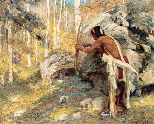 Eanger Irving Couse - Caccia il tacchino nel Aspens