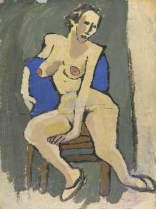 William Henry Johnson - nudo femminile seduti  su  sedia
