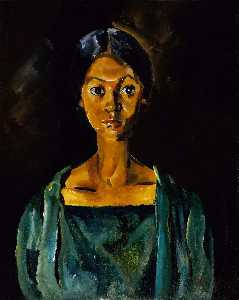 William Henry Johnson - ragazza in un verde vestito ( ritratto studio No . 22 )