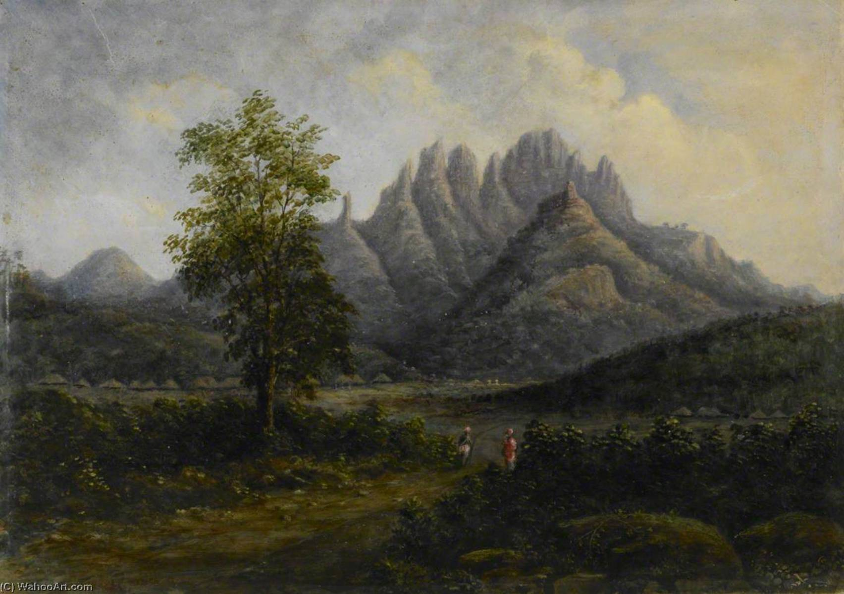 Paesaggio montano come  dopodomani  Occidentale  ghat , 1876 di William Robert Houghton | WahooArt.com