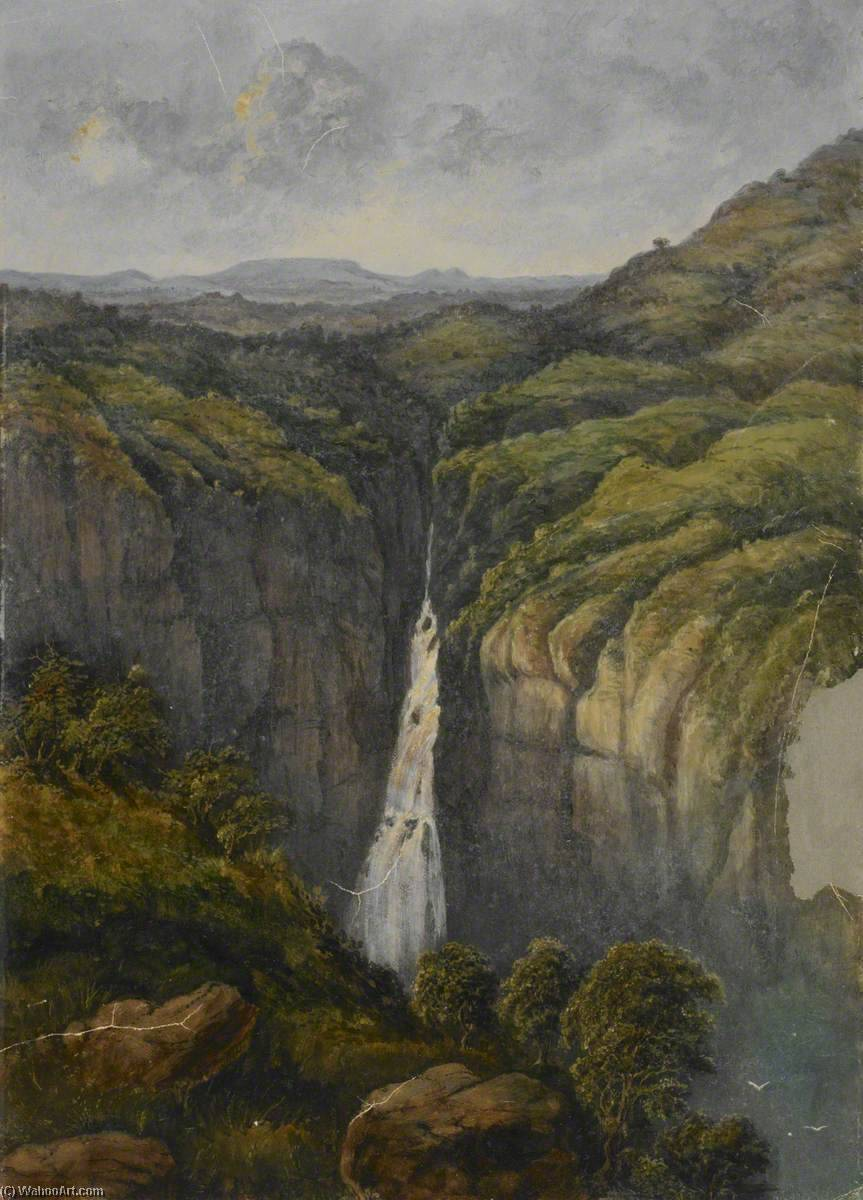 cascata come  dopodomani  Occidentale  ghat , olio di William Robert Houghton