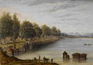 William Robert Houghton - Fiume e Ghat a kolhapur