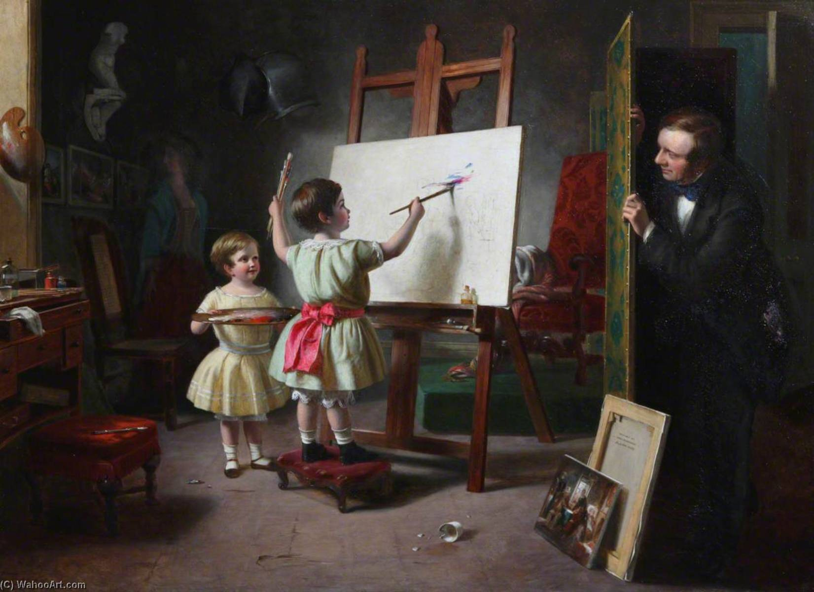 Dispetto dopodomani  Studio di artista , 1855 di Thomas Brooks | WahooArt.com