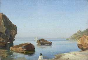 Thomas Stuart Smith - Studio di una Roccia a capri
