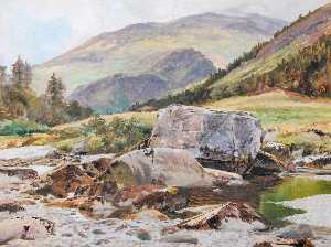 Frederick William Hayes - Rocce sul Glaslyn Fiume