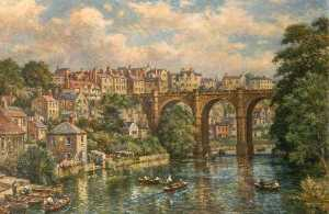 Bernard Finnigan Gribble - scena del ponte , Knaresborough
