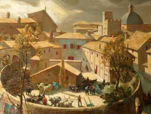 Charles Ernest Cundall - il arena , Assisi