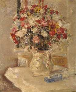 Ethel Walker - fiori in un brocca