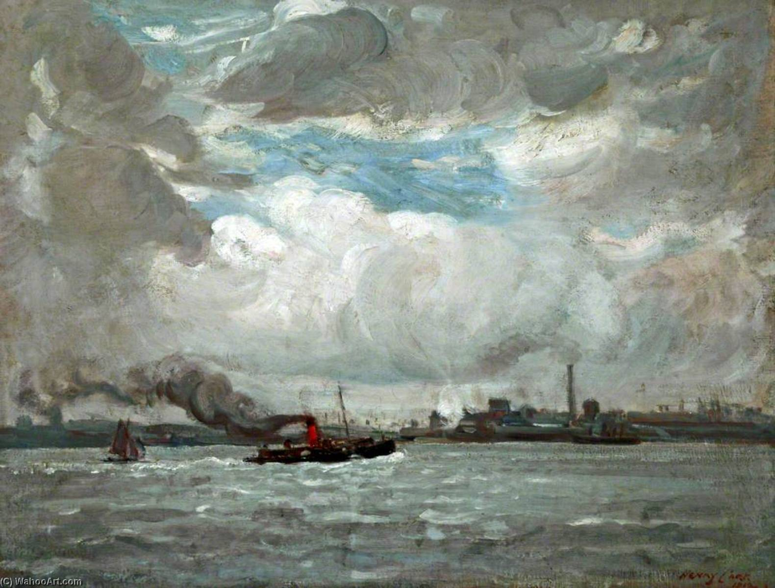 il mersey, 1912 di Henry Marvell Carr | WahooArt.com