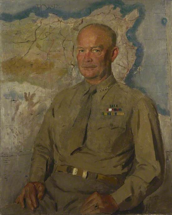 generale dwight d . Eisenhower ( 1890–1969 ), olio su tela di Henry Marvell Carr