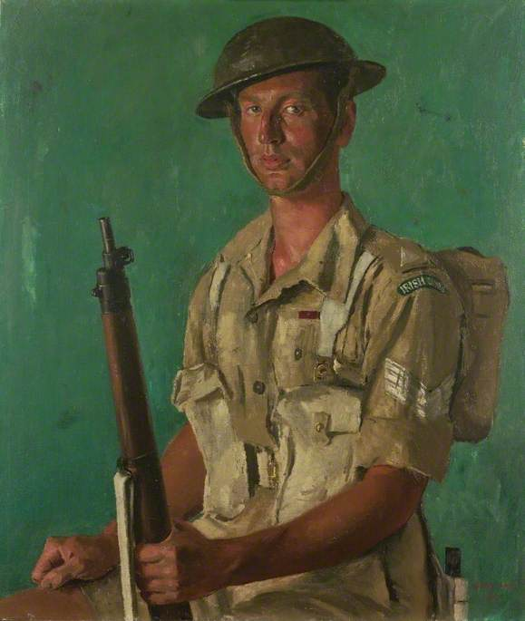 Sergente J . P . Kenneally , VC , primo battaglione , Irlandese Guardie, 1943 di Henry Marvell Carr | Stampe D'arte Su Tela | WahooArt.com