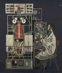 Cliff Rowe - scienziato in tempo  laboratorio  panchina