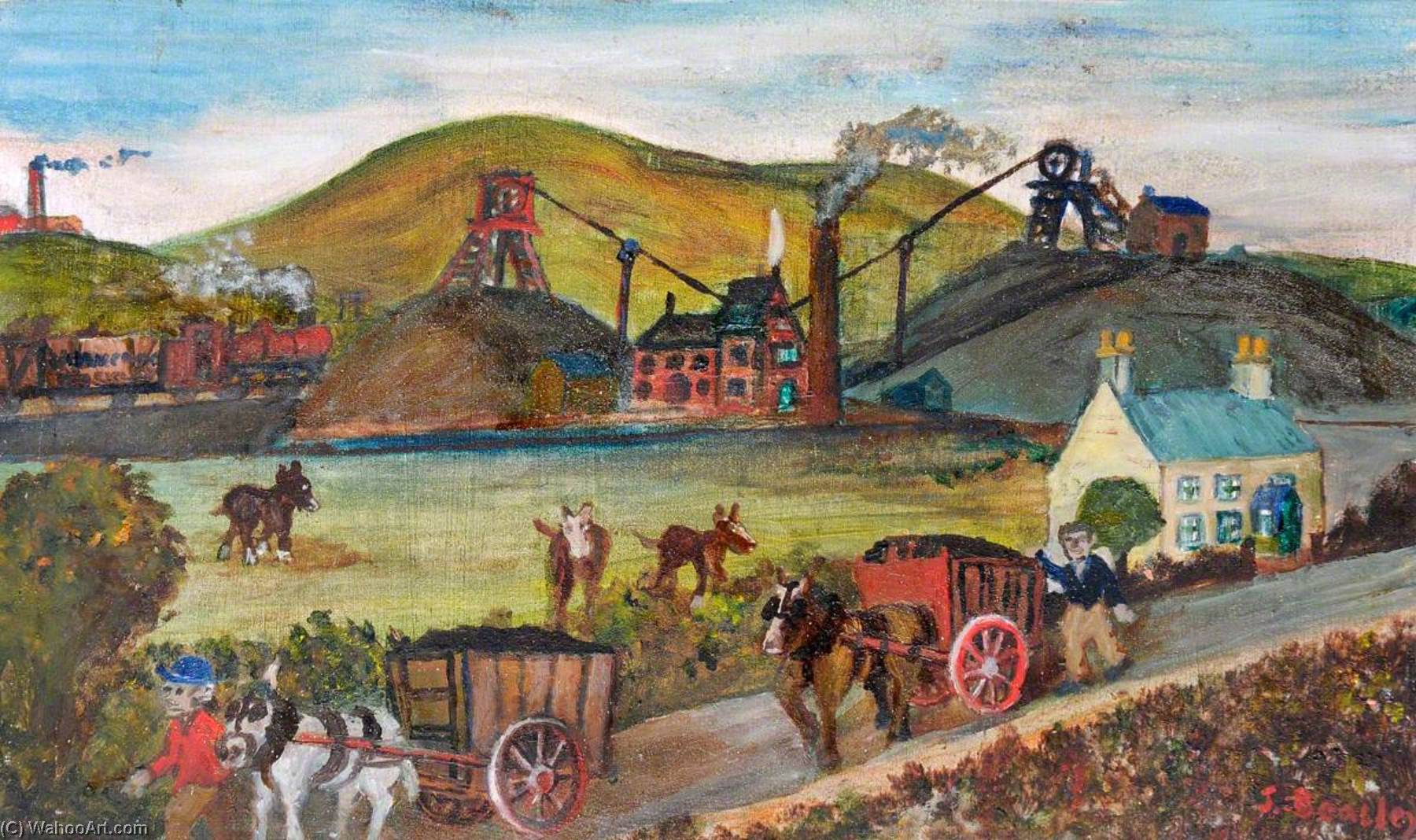 Piccolo Spigolo – ewloe collieries , 1871, olio di James Bentley