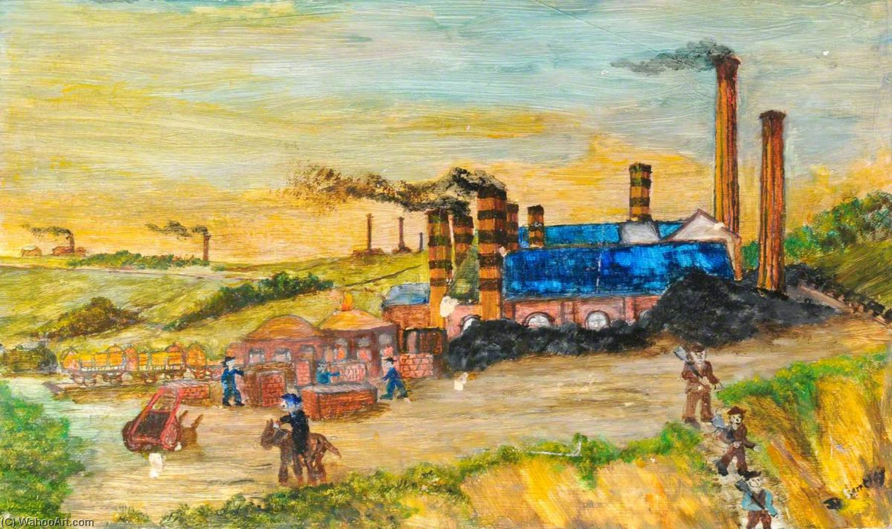 Industriale Buckley, olio di James Bentley