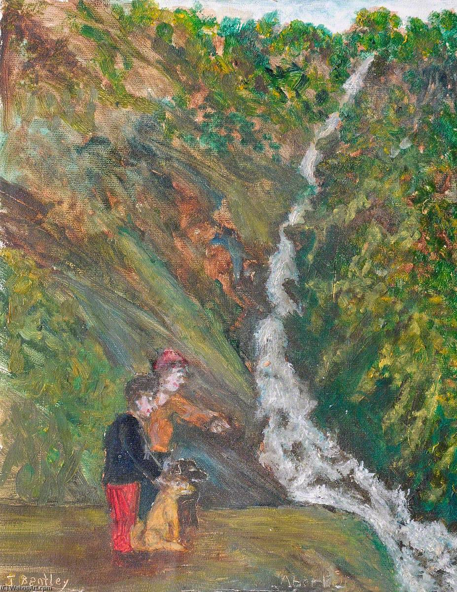 Aber Cascate, olio su tela di James Bentley