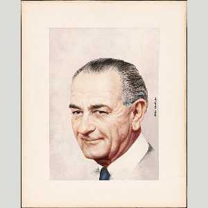 Boris Chaliapin - lyndon b . Johnson