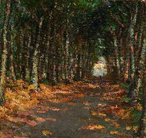 Alice Pike Barney - Allee dans il parc