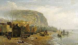William Henry Borrow - Hastings Spiaggia , Est Sussex