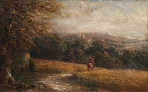 Walter William Acock - Vista da Haling Ciuffi , Croydon , Surrey