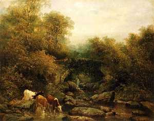 William Widgery - Fingle Ponte , Devon