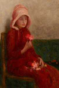 William Edward Stott - rosso rose