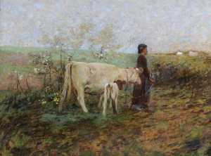 William Edward Stott - Il giovane Cowherd