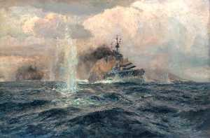 Arthur James Wetherall Burgess - HMS -Lion- al azione dogger bank