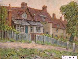 Henry Childe Pocock - 'The Aratro Inn' e cottage , Holcombe Collina , mill hill