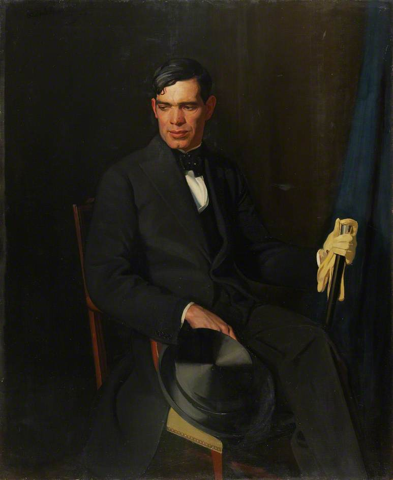 james gunn ( 1893–1964 ), olio su tela di William Oliphant Hutchison
