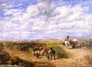 David Cox The Elder - mantenere la sinistra strada