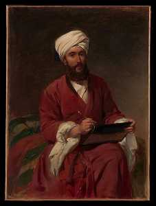 Frederick Goodall - william edward dighton ( 1822 1853 ) in medio Orientale Vestito