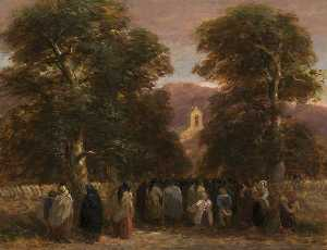 David Cox The Elder - a funeral welsh , Bettws Chiesa