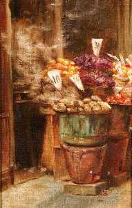 Percy Harland Fisher - Italiano Frutta  stalla