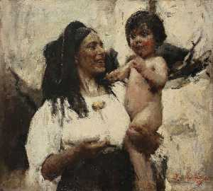 Romualdo Frederico Locatelli - Erminia e little Angelo