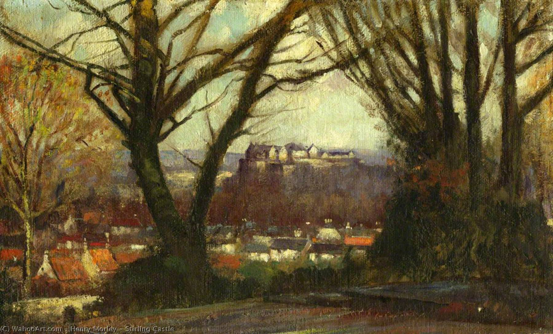 Stirling Castello, 1920 di Henry Morley | Copia Pittura | WahooArt.com