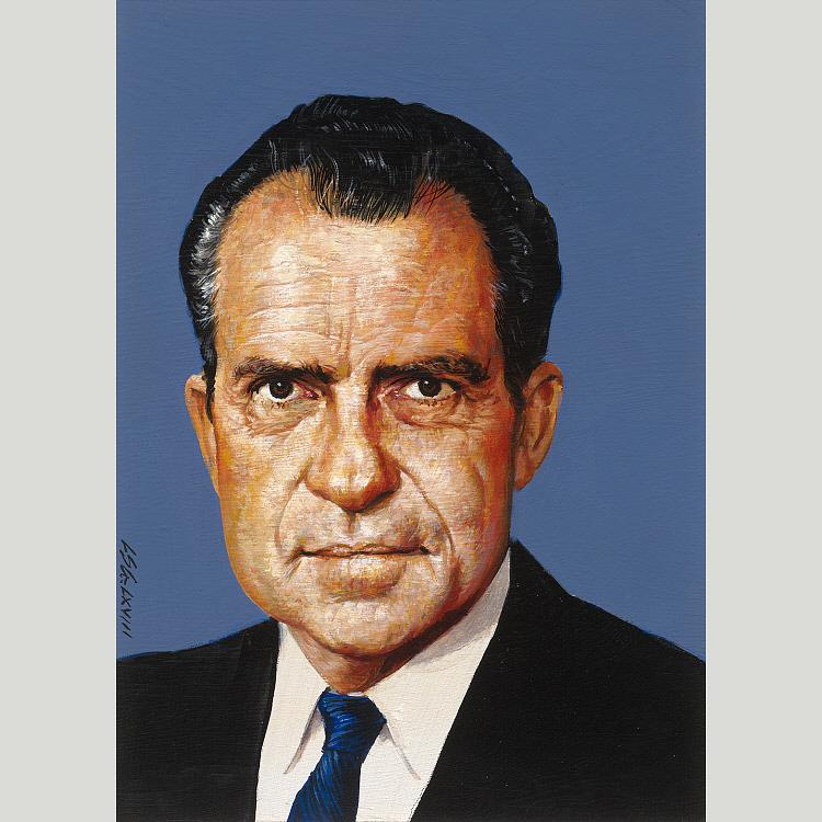richard nixon, 1968 di Louis S Glanzman | Copia Pittura | WahooArt.com