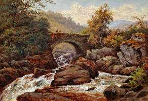 Thomas Spinks - un vecchio Ponte , capel curig