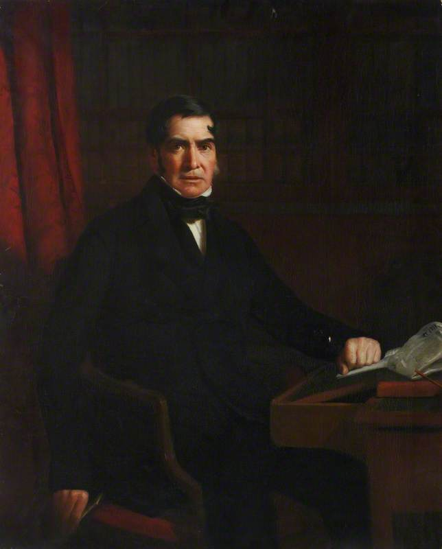 Giovanni mcdiarmid ( 1790–1852 ) , Giornalista, olio su tela di William Menzies Tweedie