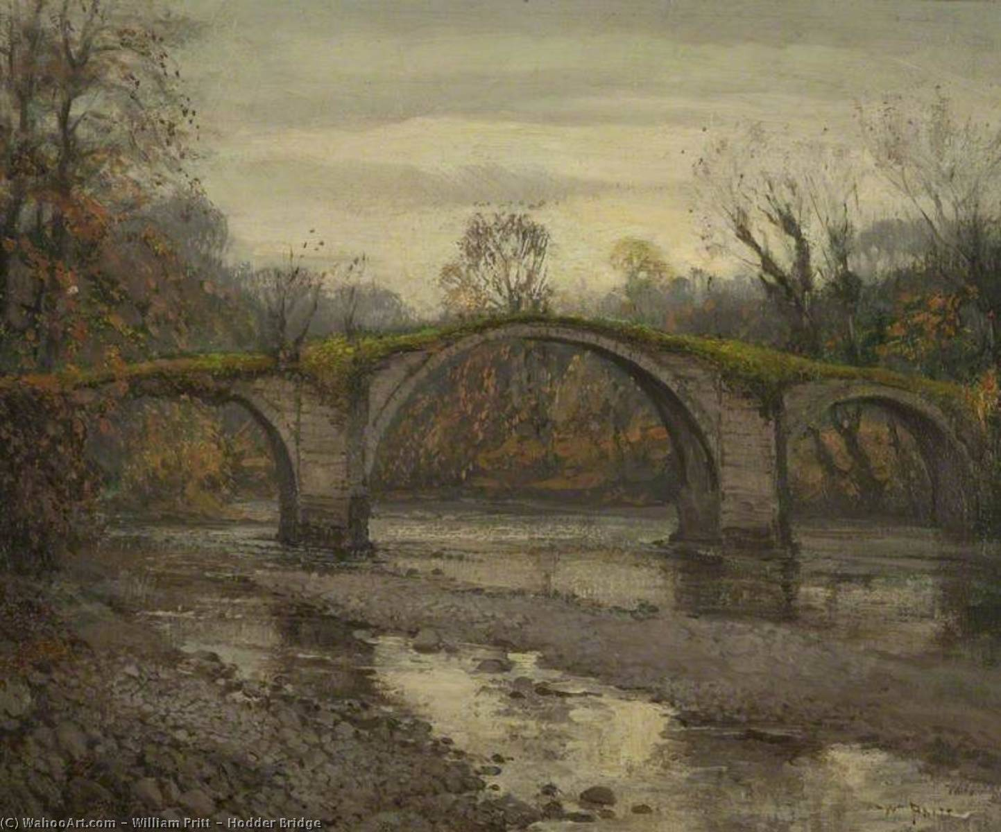 Hodder Ponte, olio su tela di William Pritt