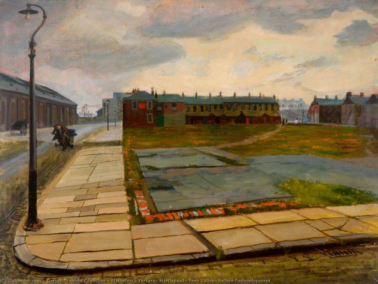 Mainsforth Terrazza , Hartlepool , Tees Valle , prima Riqualificazione di Deryck Stephen Crowther | WahooArt.com