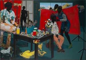 Kerry James Marshall - Senza titolo ( Studio )