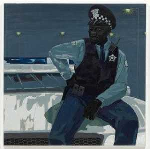 Kerry James Marshall - senza titolo Poliziotto