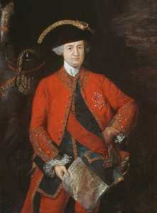 Thomas Gainsborough - Robert , Signore Clive ( 1725–1774 ) , in generale Officer's Uniforme