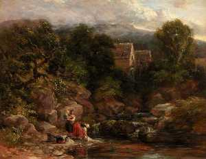 David Cox The Elder - Pandy Mulino