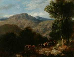 David Cox The Elder - attraversando il Guado