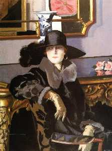 Francis Campbell Boileau Cadell - signora in nero