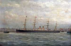 George Parker Greenwood - 'Germanic' nel Mersey